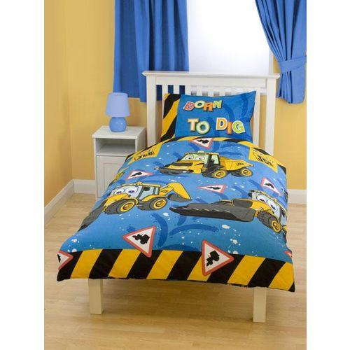 koparka jcb po ciel 140x200. Black Bedroom Furniture Sets. Home Design Ideas