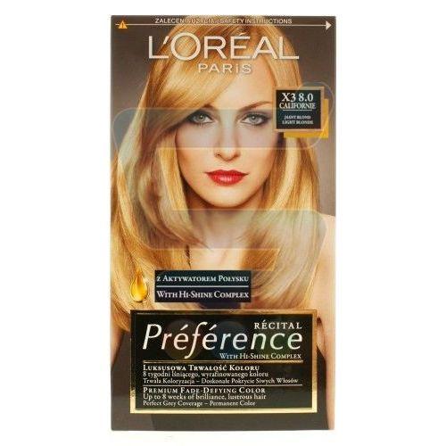 Farby do włosów - LOREAL Preference Recital Farba X3 8.0 Californie